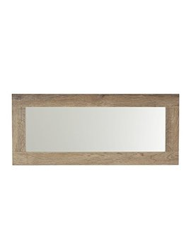 Household Essentials 8078 1 Ashwood Wall Mirror | Horizontal Or Vertical | Gray Brown by Household Essentials