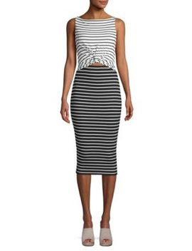 Rabbit Hole Striped Bodycon Dress by Bailey 44