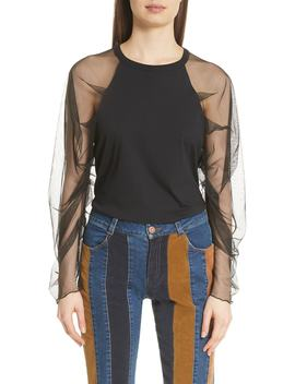 Sheer Sleeve Top by See By ChloÉ
