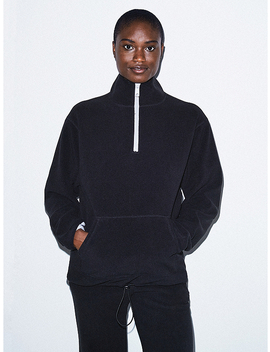 Unisex Polar Fleece Quarter Zip by American Apparel
