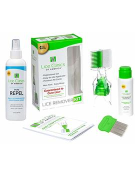 Lice Remover Kit + Daily Prevention Conditioning Spray Combo – Cure & Repel Lice With Complete Kit by Lice Clinics Of America