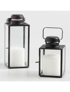 Burnt Antiqued Zinc Cargo Lantern by World Market
