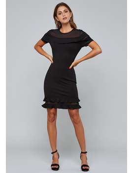 Tiered Ruffle Dress by Bebe