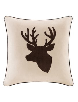 Madison Park Deer Embroidered Faux Suede Throw Pillow by Kohl's