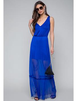 Mesh Maxi Dress by Bebe