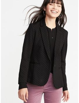 Ponte Knit Flocked Dot Blazer For Women by Old Navy
