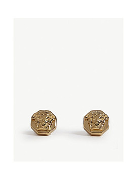 Octagon Medusa Earrings by Versace
