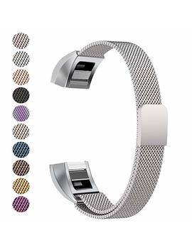 Fitbit Alta Band, Fitbit Alta Hr Bands, Soulen Milanese Replacement Metal Band For Fitbit Alta / Fitbit /Fitbit Bands / Fitbit Alta Accessories / Fitbit Alta Band (Silver) by Amazon