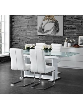 Picket House Furnishings Soho 5 Pc Dining Set In White Table & Four Side Chairs by Picket House Furnishings