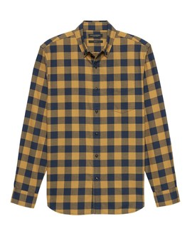 New Slim Fit Luxe Flannel Buffalo Check Shirt by Banana Repbulic