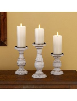 Laurel Foundry Modern Farmhouse 3 Piece Wooden Candlestick Set & Reviews by Laurel Foundry Modern Farmhouse
