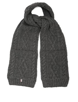 Cable Knit Wool Scarf by Thom Browne