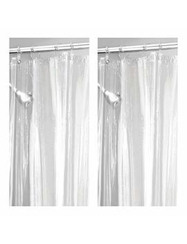 "M Design Long Waterproof, Mold/Mildew Resistant, Heavy Duty Premium Quality 4.8 Guage Vinyl Shower Curtain Liner For Bathroom Shower Stall And Bathtub   72"" X 84"", Pack Of 2, Clear by M Design"