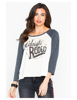 Shyanne Women's Midnight Rodeo Graphic Baseball Long Sleeve Tee by Shyanne