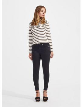 Petite Lizzie High Waist Skinny Black Jeans by Miss Selfridge