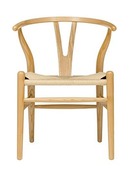Hans Wegner Wishbone Style Woven Seat Chair (Ash With Natural Cord) by Laura Davidson Furniture