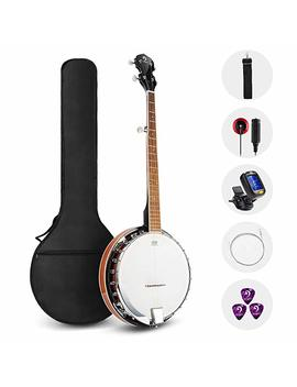 Vangoa 5 String Banjo Remo Head Closed Solid Back With Beginner Kit, Tuner, Strap, Pick Up, Strings, Picks And Bag by Vangoa