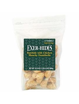 "Exer Hides 3.5"" Munchy Dumbbells Dog Treats, 40pk by Sonoran Nutra Llc"