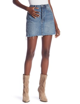 Rugged A Line Denim Skirt by Free People