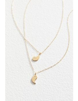 Merewif Yin + Yang Bff Necklace Set by Merewif