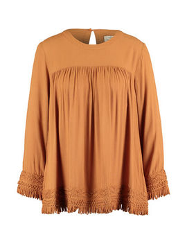 Tan Brown Cabana Blouse by Stella Forest