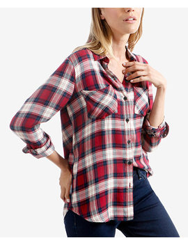 Plaid Button Front Shirt by Lucky Brand