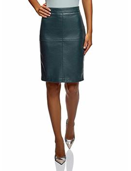 Oodji Ultra Womens Faux Leather Pencil Skirt by Oodji Ultra