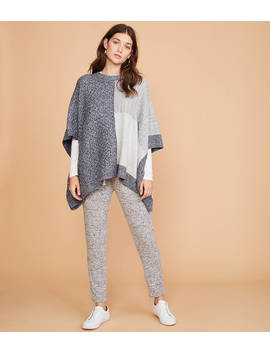 Lou & Grey Patchwork Poncho Sweater by Loft