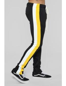 Retro V2 Track Pants   Black/Combo by Fashion Nova