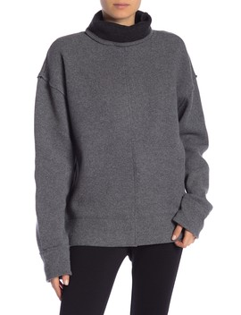 Rolled Turtleneck Wool Blend Sweater by Frame Denim