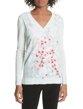 Soft Blossom Burnout Front Sweater by Ted Baker London