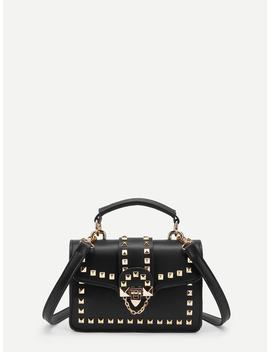 Studded Decorated Pu Crossbody Bag by Shein