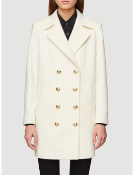 Frame Denim Nautical Peacoat  Cream Wool Size L $895 by Frame