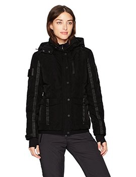 Blanc Noir Women's Two Face Down Coat With Hood by Blanc Noir