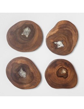 Round Acacian Wooden Coasters   Set Of 4   Threshold™ by Threshold™