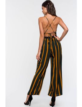 Moody Stripes Jumpsuit by A'gaci