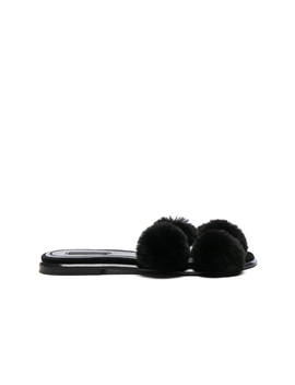 Ava Rabbit Fur Sandals by Alexander Wang