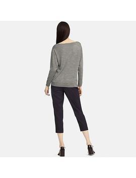Damen 100% Extra Feine Merinowolle Pullover (Boot Ausschnitt) by Uniqlo