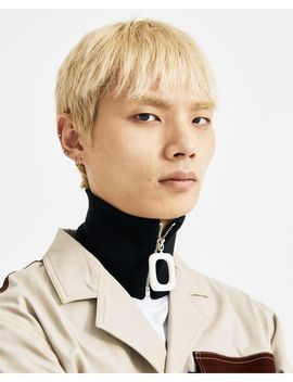 Men's Black Zipped Neckband by Jw Anderson