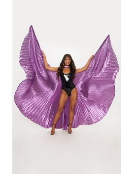 Purple Iridescent Statement Wings by Prettylittlething