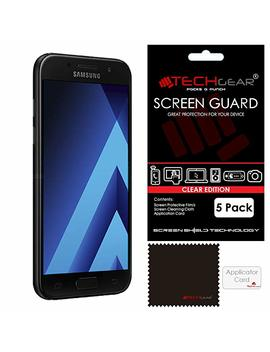 [Pack Of 5] Techgear Screen Protectors For Galaxy A5 2017 (Sm A520 Series)   Ultra Clear Lcd Screen Protector Guard Covers Compatible With Samsung Galaxy A5 2017 (Sm A520 Series) [Not For Older Galaxy A5 Models (Models: Sm A500, Sm A510)] by Techgear