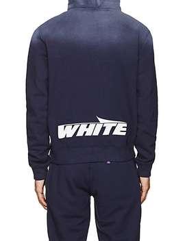 Logo Cotton Fleece Hoodie by Off White C/O Virgil Abloh