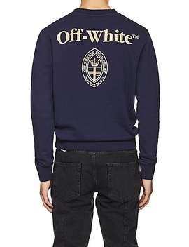 Logo Crest Cotton Fleece Sweatshirt by Off White C/O Virgil Abloh