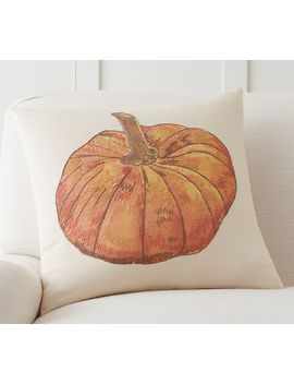 Oversized Pumpkin Pillow Cover by Pottery Barn