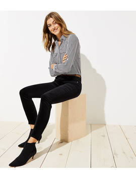 Modern Velvet Skinny Jeans In Black by Loft
