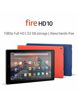 "Fire Hd 10 Tablet With Alexa Hands Free, 10.1"" 1080p Full Hd Display, 32 Gb, Marine Blue – With Special Offers by Amazon"