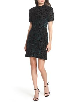 Velvet Jacquard Sheath Dress by Chelsea28