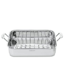 Cuisinart 7117 16 Ur Chef's Classic Stainless 16 Inch Rectangular Roaster With Rack by Cuisinart