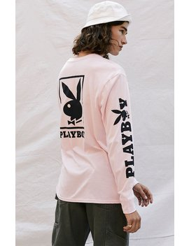 Pac Sun X Playboy Logo Gold Long Sleeve T Shirt by Pacsun