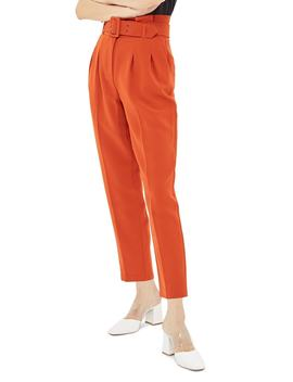 Ayla Belted Peg Trousers by Topshop